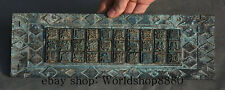 """12"""" Old Chinese Bronze Dynasty Engraving Seal Stamp Machine Plate Printing Plate"""
