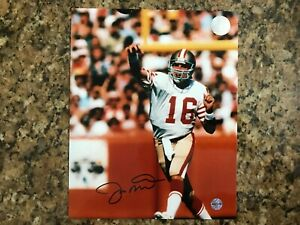 Joe Montana Autographed 8x10 Photo with Certificate of Authenticity