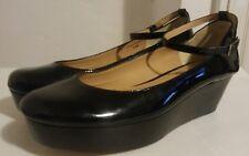 kate spade NEW YORK Black Patent Leather Shoes Size 6.5 Platform Ankle Strap