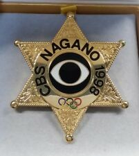 1998 NAGANO CBS MEDIA BADGE LIMITED 1000pc OLYMPIC PIN (POLICE)