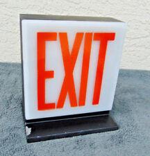Vintage Art Deco Exit Sign Arrows Old Light Man Cave Industrial Metal Game Room