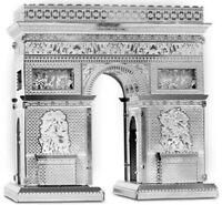 Tenyo Metallic Nano Puzzle Arc de Triomphe Model Kit NEW from Japan