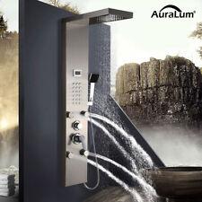 Edelstahl Duschpaneel Wasserfall Duschsäule LCD Display Regendusche Massage Bad