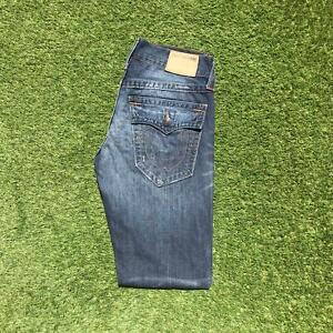 Vintage TRUE RELIGION GENO Mens Slim Jeans 29 x 32 Dark Wash   Y2K Stretch USA