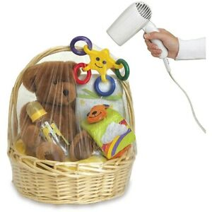 Hamper Wrap cellophane Basket Gift Wrap Bag Large Cello shrink wrap Basket BAG