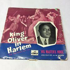 King Oliver e la sua Orchestra – King Oliver ad Harlem In buonissima condizione/G + DLP 1096