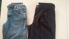 Boys pants size 12 Husky lot of 2, George blue dress casual, Rustler jeans, *886