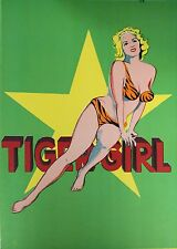 Mel Ramos 'Tiger Girl' Original Lithograph 1 Cent Life Rare Pop Art MINT CD 1964
