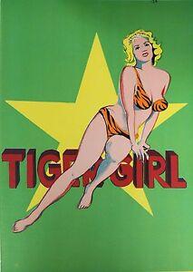 Mel Ramos 'Tiger Girl' Original Lithograph 1 Cent Life Rare Pop Art MINT CD 1964