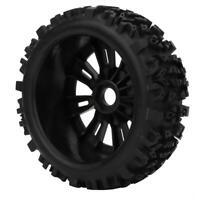 2 Stück RC Gummireifen RC Buggy Räder /& Reifen 1//8 Maßstab Auto Zubehör Teil
