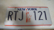 NY liberty license plate RTJ 121