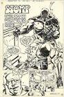 BADGER%2327+p.2+by+BILL+REINHOLD+First+Comics+1987+LARGE+ART