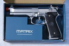 Airsoft Matrix Elite M9 Gas Blowback GBB Pistol Silver