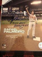 Rafael Palmeiro Signed 8x10 Photo 3000th Career Hit  Inscription Rare Orioles