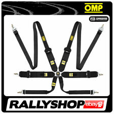 FIA OMP SALOON 6 POINTS BLACK SEATBELT Harness Belts Race Racing Rally 806F