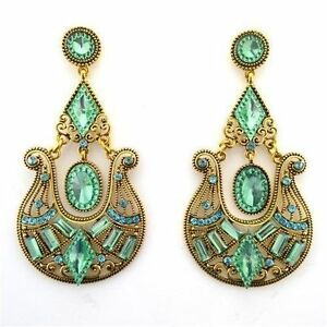 Green Brinco Grande Epic Holiday Gift Sale Chandelier Earrings Fashion Jewelry
