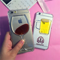 Red Wine Glass Beer Moving Liquid 3D Case Cover iPhone 5, 6, 6+ S5 S6 Edge phone