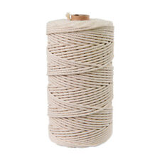 200 m x 3mm Cotton Rope for Macrame Braided Woven Braided Gift Packaging Cord