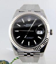 Rolex Datejust II 126334 Jubilee Steel & 18k White Gold Bezel 41mm Black Index