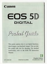 Canon EOS 5D (1st Version) Pocket Guide Brief Fold Out Manual In English