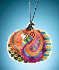 MILL HILL Painted Pumpklns ORNAMENTS Beaded Cross Stitch Kit PERSIAN PUMPKIN