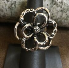 Silpada .925 Sterling Silver Large Flower Power Ring Size 6 R2784 EUC Statement