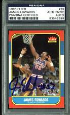 Suns James Edwards Authentic Signed 1986 Fleer #29 Auto Card PSA/DNA Slabbed