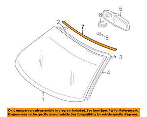 SUBARU OEM 93-01 Impreza Windshield-Reveal Molding 65023FA000