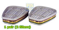 1 Paio - 3M 6059 ABEK 1 ACIDO GAS e VAPORI filtro si adatta 6000 & 7000 SERIE MASCHERE
