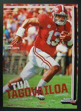 Tua Tagovailoa 2019 SI Kids Rookie Football Poster ~Alabama QB~ Future NFL Star!