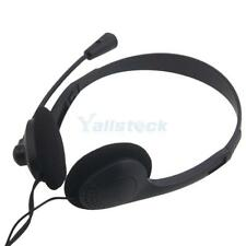 3.5mm Stereo Headset Earphone Headphone with Microphone for Desktop PC Computer