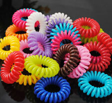 New 5 pcs Elastic Girl Rubber Telephone Wire Style Hair Ties & hair ring UK
