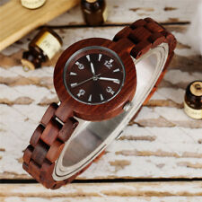 Luxury Brown Wooden Quartz Wrist Watch for Women Lady Sport Dress Watches Gift