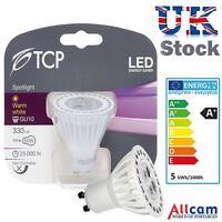 TCP 5W GU10 LED Bulb Warm White 330lm ~40W-50W Halogen Lights