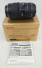 Sigma 70-300mm f/4-5.6 APO Macro Super Zoom Lens For Canon AF Made Japan w/ Box