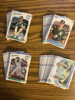 (150+) 1988 Fleer Mark McGwire Jose Canseco NRMT+ Oakland Athletics Lot