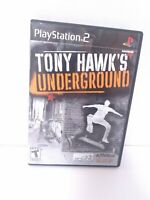 Tony Hawk's Underground (PlayStation 2, 2003) Complete Tested Fast Shipping