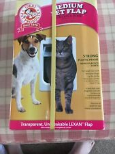 "Medium Pet Flap For Cats or Dogs - 7 1/2"" by 10 1/2"" Large Cats Medium Dogs 25lb"