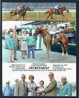 SECRETARIAT, PENNY TWEEDY, LUCIEN LAURIN - 1972 BELMONT FUTURITY PHOTO COLLAGE!