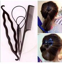 High Hair Twist Styling Clip Stick Bun Maker Braid Tool Hair Accessories 4Pcs