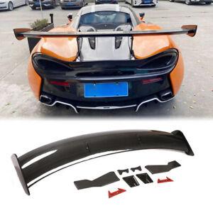 Fit McLaren 570S 2-Door 2015-2020 Rear Trunk Spoiler Sport Wing DRY Carbon Fiber