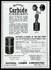 1945 National Carbide mining mine floodlight photo vintage print ad