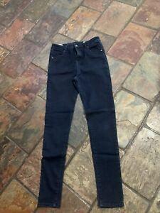 Ladies Lee Cooper Size 14 Dark Blue Skinny Leg Jeans