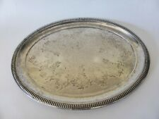 Victorian Silver Plated Serving Tray, Serving Dish, Borries EPNS, Rustic Decor