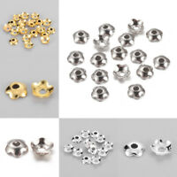 10 g 4mm Flower Brass Spacer Bead Caps Jewelry Making Findings Crafts hole 1.2mm