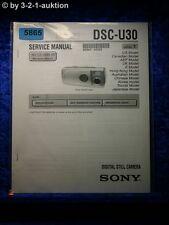 Sony Service Manual Dsc U30 Level 1 Digital Still Camera (#5865)
