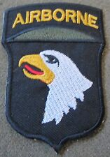 WWII US 101ST AIRBORNE PARATROOPER SLEEVE DIVISION INSIGNIA PATCH-OD