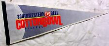 """Cotton Bowl Pennant Southwestern Bell 30"""" VG Couple Creases"""