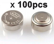 100 x AG13 LR44 SR44 L1154 357 A76 alkaline button cell coin batteries toy watch