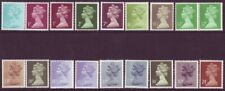 18 Different Machin Stamps Including Se Tenant Pairs UM - Face Value £2.13